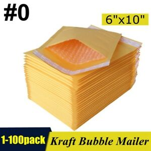 0 6 x10 6x9 Kraft Bubble Mailers Padded Self Seal Shipping Bags Envelopes