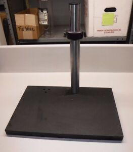 Microscope Stand 13 x 20 Base Vertical Shaft Is 18 And 1 3 4 Diameter