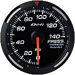 Defi White Series Racer Oil Water Pressure Gauge