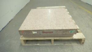 Starrett Grade A Pink Granite Surface Plate 24 X 24 X 6 With Ledges Cover Used