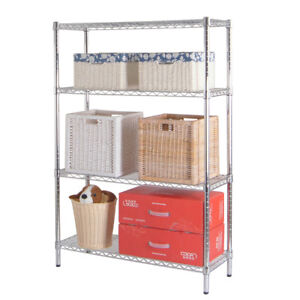 4 tier Metal Rack Wire Shelving Kitchen Garage Shelf Storage Home Organizer