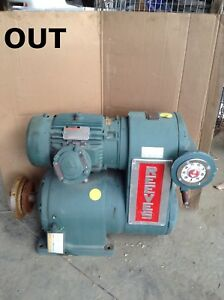 Reeves 0332 Parallel Moto Drive Adjustable Speed Gear Drive 17 1 1 5hp 1730rpm