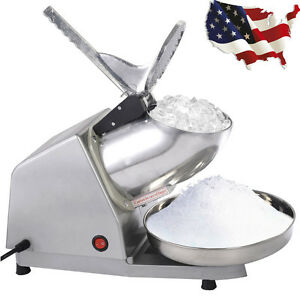 Ice Shaver Machine Snow Cone Maker Shaved Ice Sliver Electric Crusher Shaving Us