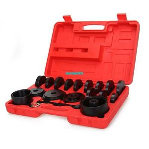 23 Pcs Wheel Bearing Press Kit Removal Adapter Puller Pulley Tool W case Front