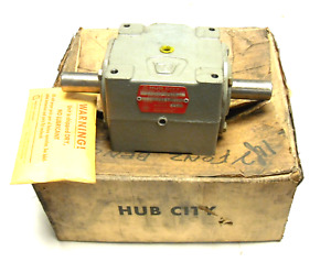 New Hub City 02 20 00802 150 Bevel Right Angle Gear Box Drive 1 1st 1 Shaft