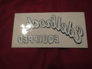 Edelbrock Equipped Vintage Automotive Parts Logo Inside Of Window Decal Sticker