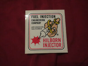 Hilborn Injector Fuel Injection Engineering Company Los Angeles Ca Decal Sticker