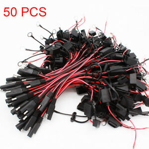 50 Battery Charger Cables Quick Connect 2 Pin Ring Terminal Harness Tender Wires