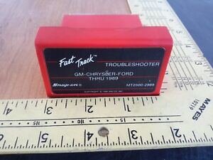 Snap On Mt2500 2989 Gm Chrysler Ford Thru 1989 Fast Track Troubleshooter
