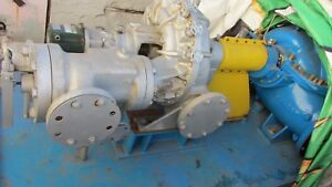 Coppus Sulzer Steam Turbine Type Rla23f 300hp 1200rpm Woodward Gt Governor