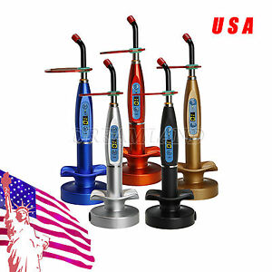 Usa 5 Kits Dental Wireless Cordless Led Cure Curing Light Lamp Holder Charger