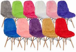 Shaggy Dog Fluffy Furry Accent Chairs Side Home Office Desk Bedroom 11 colors