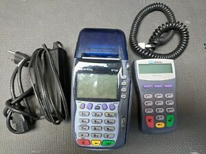 Verifone Vx570 Omni 5750 9v4a With Power Supply And Pin Pad Working