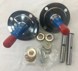 1928 1948 Ford Stright Axle Spindles Chrome W king Pin Kit Bushings Installed