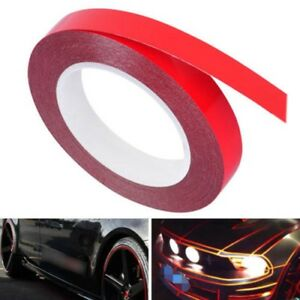 Car Moto Body Reflective Tape Film Sticker Decals Glow In The Dark Red Strip Tw