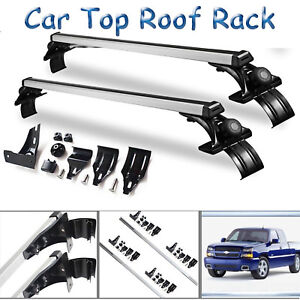 Car Top Luggage Cross Bar Roof Rack Carrier Skidproof 47 For Chevy Silverado
