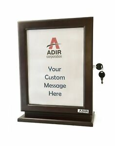 Adir Customizable Wood Suggestion Box Mahogany With A Free Pack Of Refill