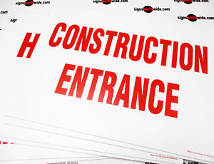 Yard Signs 6 Construction Red And White D s Coroplast Signs