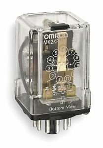 Omron Latching Plug In Relay 11 Pins Octal Base Type 10a 250vac 28vdc