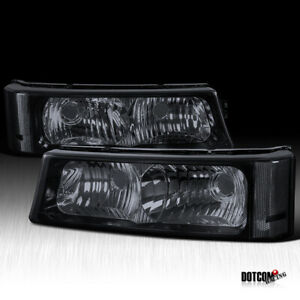 Chevy 2003 2007 Silverado 2002 2006 Avalanche Smoke Bumper Lamps Signal Lights