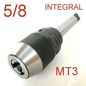 1 Pc Keyless 1 32 5 8 Drill Chuck Integral Integrated 3mt Mt3 Shank For Cnc