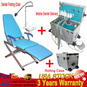 Dental Chair Portable Folding Chair Unit led Curing Light mobile Dental Delivery