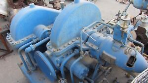 Westinghouse Steam Turbine 412hp 4648rpm 550f 445psig Inlet With Geearbox