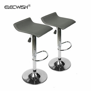 Pu Leather Office Executive Chair Swivel Ribbed High Back Adjustable Desk White