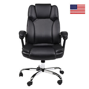 Office Chair High Back Pu Leather Executive Adjust Height Swivel Computer Seat