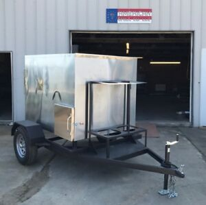 Insulated 48 X 48 Rotisserie Smoker W Trailer Call Before You Buy