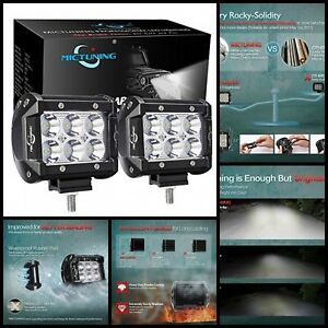 Spot Led Pods Off Road Driving Fog Lights 4inch 18w For Jeep Boat Motorcycle New