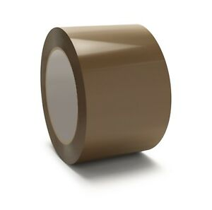 New 72 Rolls Brown Tan Carton Sealing Packing Tape Shipping 3 2 0 Mil 110 Yards