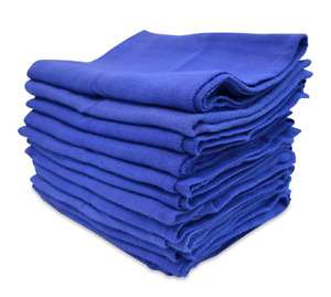 100 Premium Blue Huck Towels Glass Cleaning Lintless Detailing Fast Free Ship H