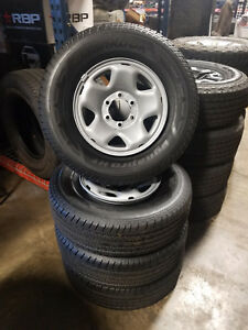 Used Hankook Dynapro Ht P245 75r16 Tires With 16x7 Wheel Package Full Set