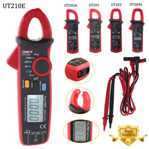 Uni t Ut210e Digital Clamp Meter Multimeter Handheld Rms Ac dc Mini Resistance