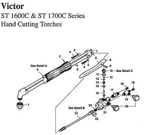 Victor St 1600 1700 Cutting Torch Complete Rebuild Repair Kit