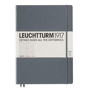 Leuchtturm1917 Slim Master Hardcover Notebook 9 X 12 5 Inches 121 Lined