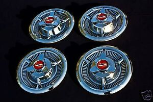 1958 58 4 Chevrolet Chevy Impala Hubcaps