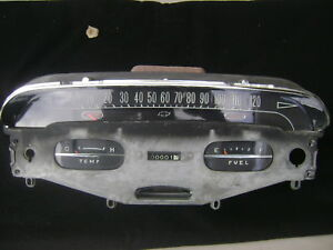 1958 Chevy Impala Bel Air Dash Cluster Speedometer With Gauges 58 Stunning