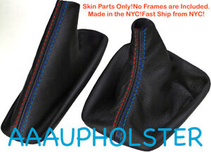 Shift Boot And E Brake Boot Set Pvc Leather For Bmw E46 99 04 M3 Style Stitches
