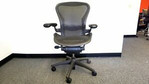 Immaculate Condition herman Miller Fully Loaded Posture Fit Size B Aeron Chairs