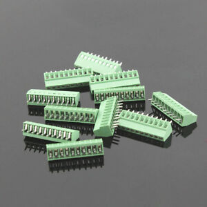 50pcs 10 Poles 10 Pin 2 54mm 0 1 Pcb Universal Screw Terminal Block Connector