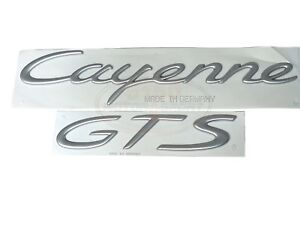 Porsche Cayenne Gts Emblem Satin Silver Finish New Genuine