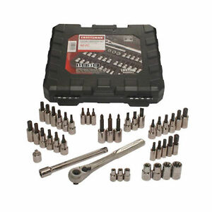New Craftsman 42 Piece 1 4 And 3 8 Drive Bit And Torx Socket Wrench Set 9 34845