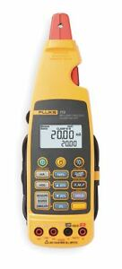 Fluke Clamp On Digital Clamp Meter 14 deg To 122 deg f Temp Range 11 64 Jaw