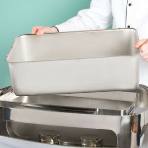 Full Size Silver Stainless Steel Steam Table 6 Deep Spillage Water Pan