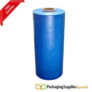 20 5000 63ga Pallet Machine Stretch Wrap Self adhering Blue Shrink Film 3 Rls
