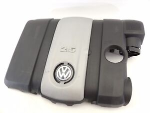 2008 Mk5 Vw Rabbit 2 5l Air Intake Engine Cover Trim With Emblem Logo Oem 643