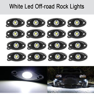 16pcs 9w White Cree Led Rock Light For Jeep Offroad Truck Under Body Trail Lamp