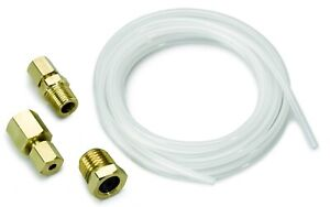 Auto Meter 3223 Universal Nylon 1 8 10 Ft Tubing W Brass Compression Fittings